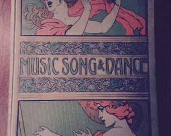 Music Book 1911 Music Song snd Dance