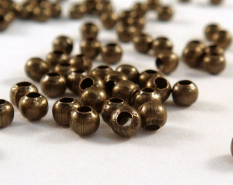 100 Antique Bronze Spacer Beads 3mm Iron Jewelry Findings NF - 100 pc - M7013-AB100