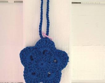 Hanging star crochet, handmade, ultramarine blue
