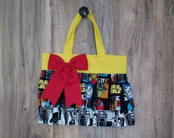 Vintage Star Wars Inspired Little Girl Ruffled Tote Bag