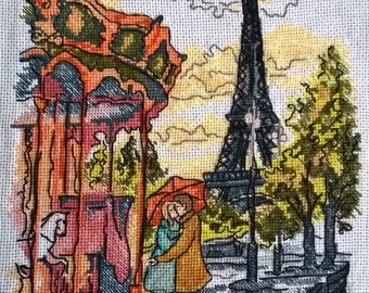From Paris with love cross stitch picture