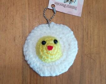 Fried Egg Mini Plush Keychain or Ornament