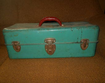 Vintage 1950s Liberty Steel Chest / Tackle Box