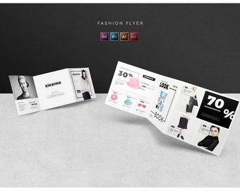 Square Fashion Brochure / Trifold Brochure fashion template