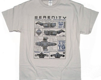 S - 5XL > FIREFLY inspired T-shirt - Serenity Ship Blueprint