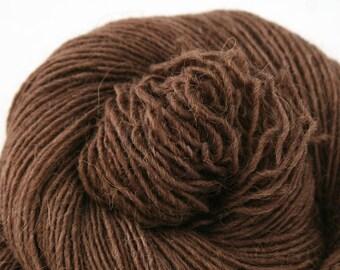 Olana fingering weight cormo alpaca angora blend yarn 300yds/274m 2oz/57g Dark Roast