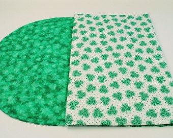 Table Runner for St. Patricks Day, Shamrocks/Irish/Celtic Table Cloth, Reversible, 42 in. x 11 in.