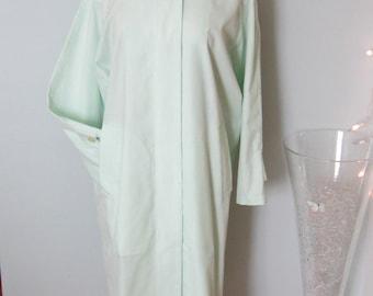 Plus Size Dress, Plus Size Coat, Plus Size Clothing, Mint Green Dress, Spring Coat Dress, Pale Green Dress, Pale Green Coat, Summer Coat