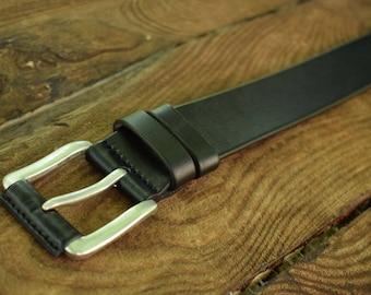Black leather belt, black belt, full grain leather belt, leather belt men, gift for him, mens black belt, genuine leather belt, mens belt