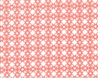 Nest - Linoleum in Rose: sku 5064-22 cotton quilting fabric by Lella Boutique for Moda Fabrics