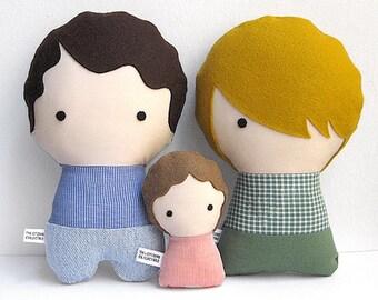 Personalised rag dolls, personalized family, portrait art dolls, likeness fabric dolls, custom stuffed dolls, custom soft dolls, plush dolls