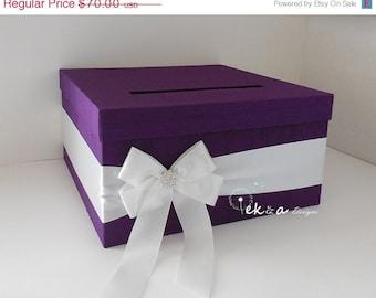Wedding card box Purple wedding Wedding gift card box Purple