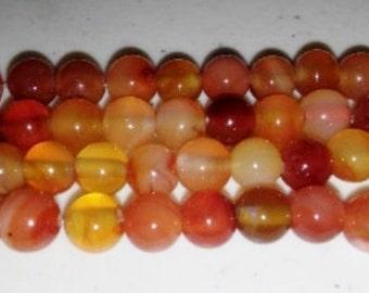 SALE! Carnelian beads 8mm round beads 8mm carnelian beads round carnelian beads orange stone beads