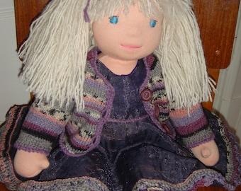 Waldorf doll, Sidsel organic 16,5 inch