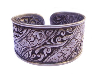 Vintage Handmade Old Silver Tribal Stunning Antique Indian Bangle Jewelry