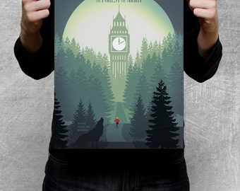 DOCTOR WHO inspired poster - In the Forest of the Night