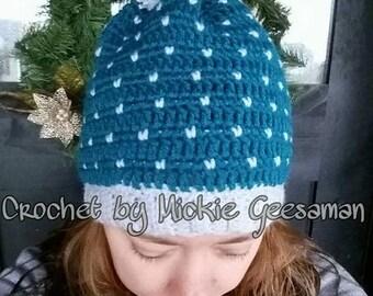 Crochet tiny hearts hat
