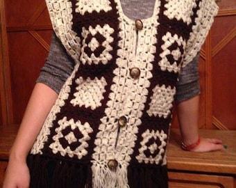 Crocheted vest