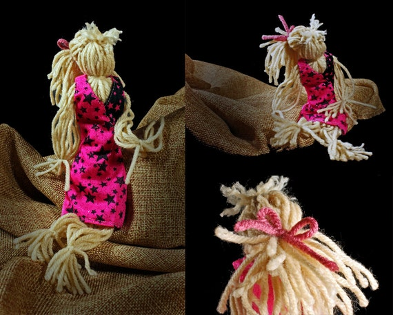 Art Doll, Folk Art Doll, Yarn Doll, Handmade, Toy, Doll