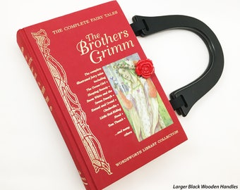 Brothers Grimm Fairy Tales Recycled Book Purse - Sleeping Beauty Book Clutch - Cinderella Book Bag - Book Handbag - Purse made from a book