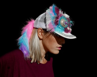 UTHA Lucky Dragon headdress _festival hat_statement headdress - mask - festival wear