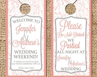Weding Door Hanger Please Do Not Disturb Door Hanger
