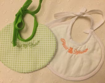 Set of two bibs for Preemies