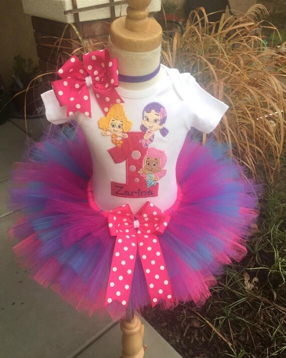 Burbuja lebistes niñas cumpleaños traje vestido conjunto hecho