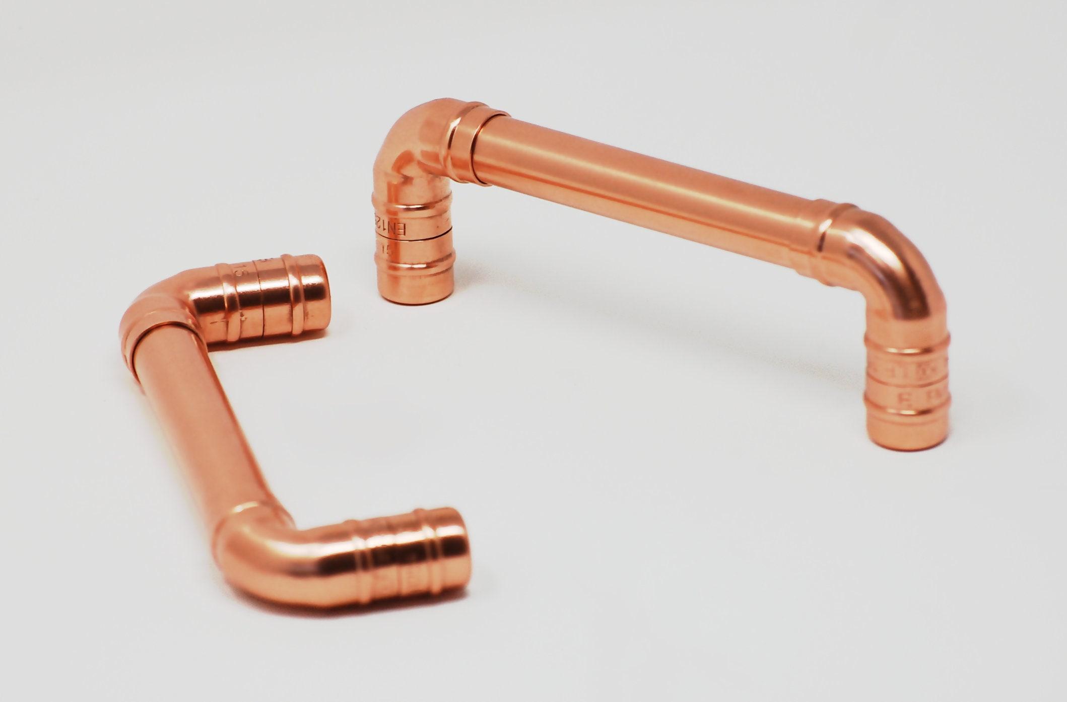 QuirkHub® Indy Kupfer Griff Möbel Knöpfe & zieht