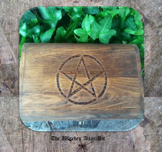 Wiccan Altar Kit - Witch Kit - Witch Box - Travel Altar - Witch Altar - Pagan Altar - Witchcraft – Wiccan – Altar – Occult - Pentagram