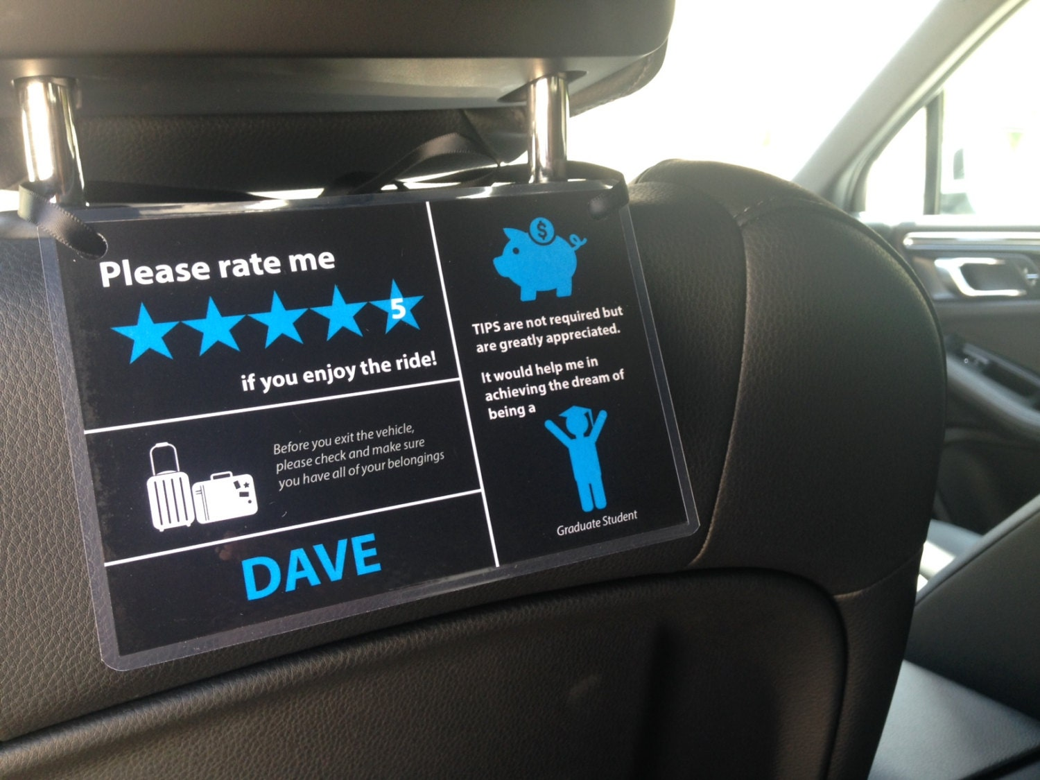 This is a photo of Inventive Uber Lyft Sign Printable
