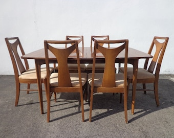mad men furniture. 8pc mid century modern kent coffey perspecta dining table chairs set danish eames chair vintage mad men furniture