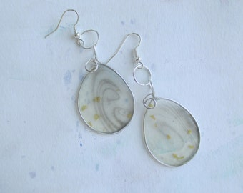 Paper jewelry/Paper earrings/Marble jewelry/MArble earrings/Painting jewelry/Painting earrings/Wire wrapped jewelry/Suminagashi jewelry