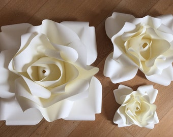 Set 3 rose di carta giganti