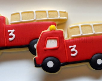 Fire Truck Cookies 2 dozen