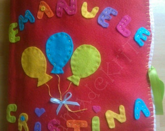 Quiet books... Children's educational book in felt and felt.. Learning by playing... HandmadeKriTiLo