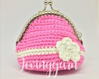 Handmade coin purse crochet