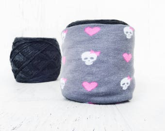 Skull Yarn Bowl- Yarn holder- Yarn Organizer- Yarn Storage- Heart Yarn Cozy- Crochet Accessories- Yarn Holder- Skein Coats- Knitting