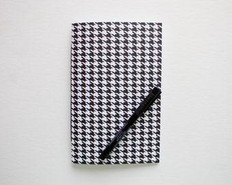 travel journal, writing journal, sketchbook journal, houndstooth notebook, small sketchbook, notebook journal, prayer journal, cute notebook
