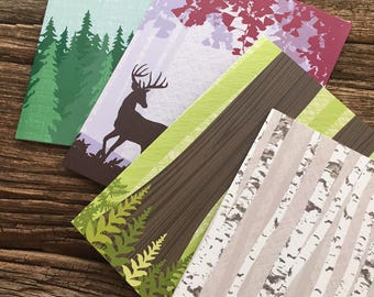 assorted cards / forest