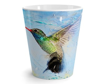 Latte Mug Hummingbird Nature Lover Mother's Day Gift Present