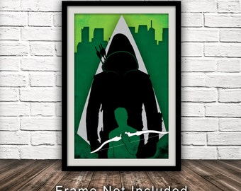 Arrow - Green Arrow TV Show Poster - Minimalist, Fan Art