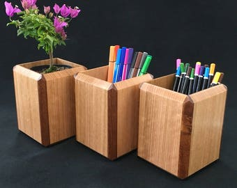Australian Timber Handcrafted Desktop Pen Holder