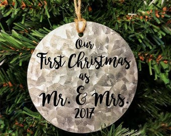 First Christmas as Mr. And Mrs. Ornament, First Married Christmas