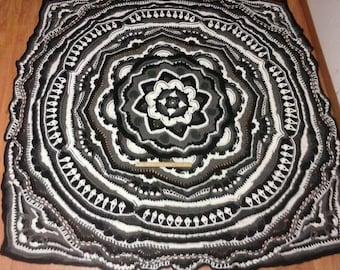 Crochet Mandala Madness, Crochet Afghan, Crochet Blanket