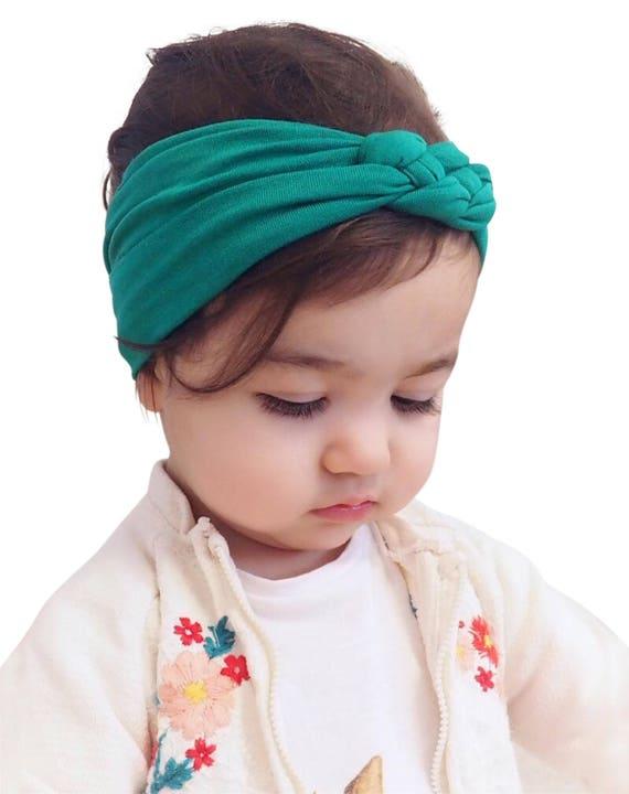Knot Headband, Jade Headband, Baby HeadWrap, Jade Turban, Celtic Knot Headband, Sailor's Knot, Hair Wrap, Baby Headband, Baby Head Wrap