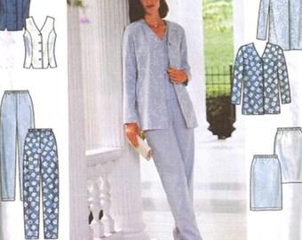 Simplicity Sewing Pattern 8522 Misses Top, Jacket, Skirt, Pants  Size:  U  16-18-20  Uncut