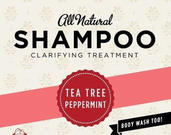Tea Tree Peppermint Organic Shampoo
