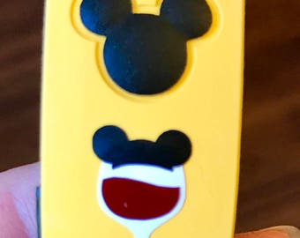 Mickey or Minnie Wine and Pretzel Magic Band Decals!