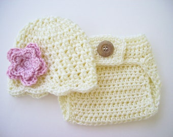 Baby Girl Outfit, Newborn Photo Outfit, Crochet Baby Set, Crochet Baby Outfit, Newborn Girl Outfit, Coming Home Outfit, Newborn Prop
